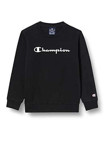 Champion Jungen Legacy Classic Logo Sweatshirt, Noir, 13-14 Ans