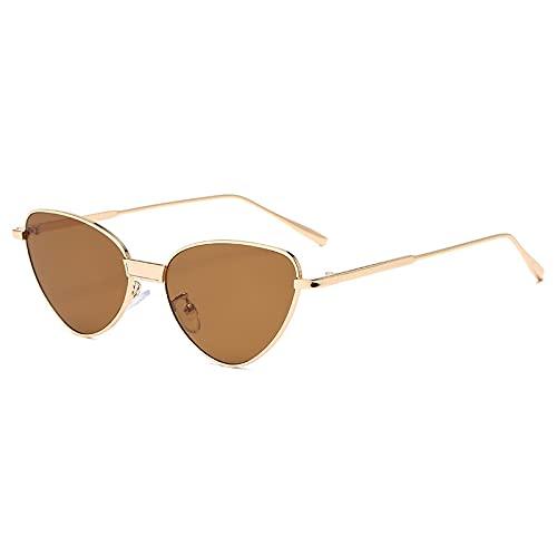 Gafas de Sol Sunglasses Gafas De Sol Retro Triangulares con Forma De Ojo De Gato para Mujer, Gafas De Sol con Lentes Rojas Y Negras De Lujo para Hombre, Gafas De Conducci