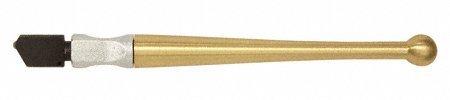 """CRL Fletcher""""Gold-Tip"""" Designer II Wide Head Glass Cutter w/Brass Handle - 1712"""