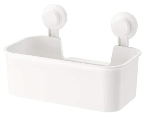 IKEA 403.812.53 Tisken Badregal Korb mit Saugnäpfen weiß