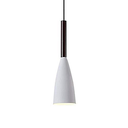 Wstomys Lámpara De Techo Lámpara LED Mini Acabado Novela De Metal De 10 Cm Ajustable * 35cm (Color : White)