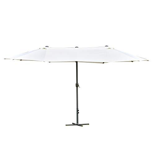 Outsunny 4.6m Garden Parasol Double-Sided Sun Umbrella Patio Market Shelter Canopy Shade Outdoor...