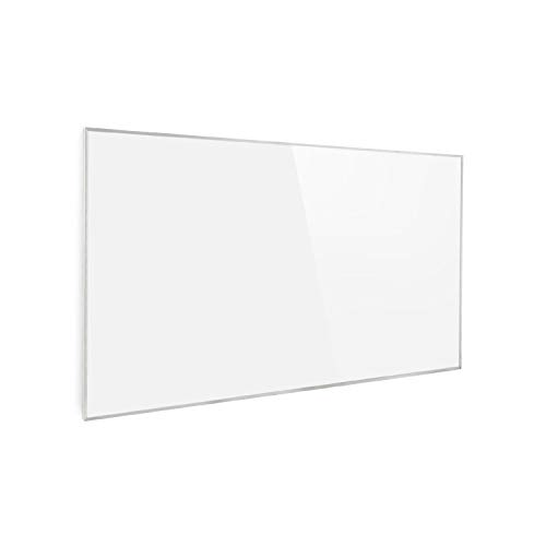 Klarstein Wonderwall Air 60 Infrarotheizung, 101 x 60 cm, 600 W, Carbon Crystal Infrared, IR ComfortHeat, ZeroNoise Infrared, OpenWindow Detection, ideal für Allergiker, Thermostat, weiß