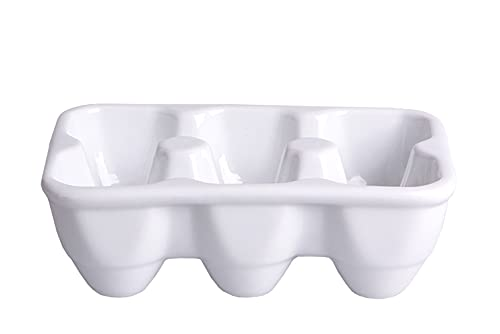 Porzellan Eierschale 6er Eierkarton Eier Aufbewahrung Servierschale Eierbecher