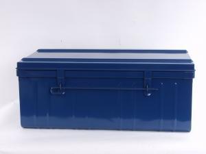 Tropenkiste 90cm Transportkiste blau 90 x 52 x 35 Werkzeugkiste Lagerkiste
