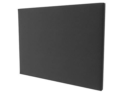 LA WEB DEL COLCHON - Cabecero tapizado Paros para Cama de 150 (160 x 120 cms) Gris Oscuro Textil Suave | Cama Juvenil | Cama Matrimonio | Cabezal Cama |