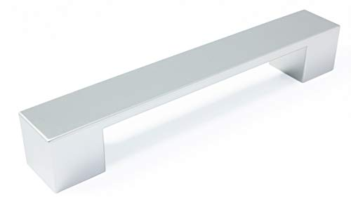 LGM-Beschlag Möbelgriff Kirkel, Modern, Kunststoff metallisiert - chrom, 164 mm x 25 mm x 25 mm, LA 128 mm, 11380