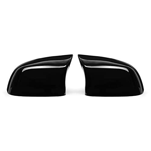 MDHANBK Reemplazo de 2 Piezas de ala del Coche Espejo Negro Cubierta del Espejo Accesorios para automóviles, para BMW X3 X4 X5 X6 X7 M Trueno Edición