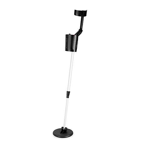 DURAMAXX Cercametalli - Metal Detector, Bobina Impermeabile di 16,5 cm, Ricerca fino a 1,5 m, Differenziazione Metalli Preziosi e Ferrosi, Segnale Acustico, Indicatore Livello Batteria, Nero Lucido