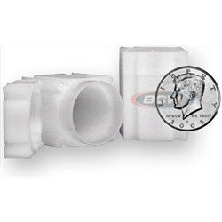 Square Half Dollar Coin Tube(Qty=10 Tubes) by CoinSafe