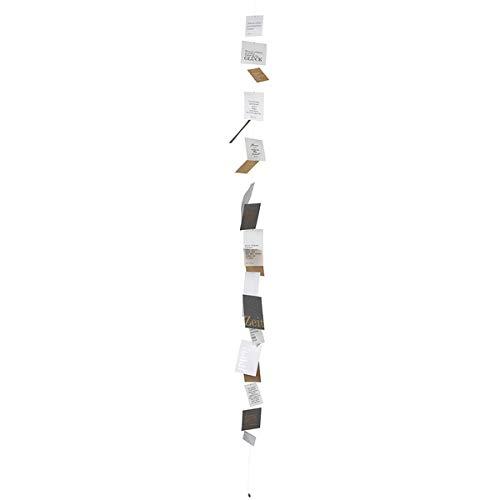 Räder - ZUHAUSE Poesiekette - Raumdekoration - Fensterdekoration - dunkel Länge: ca. 185cm