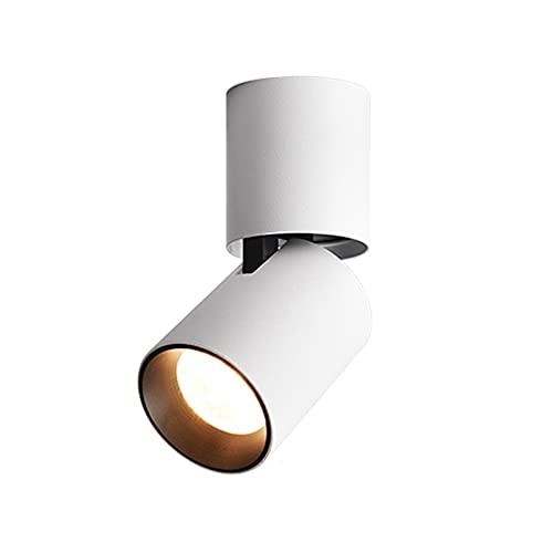 BUNCC Foco empotrable montado en superficie LED Cob Foco montado en superficie Agujero para colgar en el techo Alambre para colgar en el techo Luz de techo redonda Foco de pared en el techo Iluminació