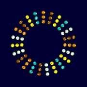 gogoritas Cristal Transferencia Hotfix de Swarovski Elements (Coloured Ring), 10 Piezas