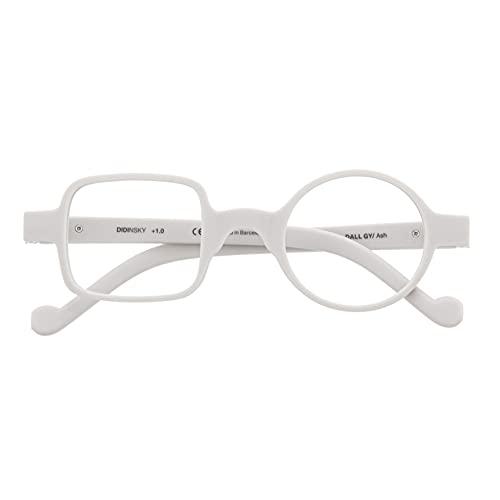 DIDINSKY Gafas de Presbicia con Filtro Anti Luz Azul para Ordenador. Gafas Graduadas de Lectura para Hombre y Mujer con Cristales Anti-reflejantes. Ash +2.0 – DALI