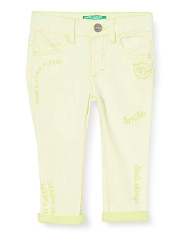 UNITED COLORS OF BENETTON Jeans Pantalon, Jaune (Lemon Tonic 40v), 80/86 (Taille Fabricant: 1Y) Bébé Fille