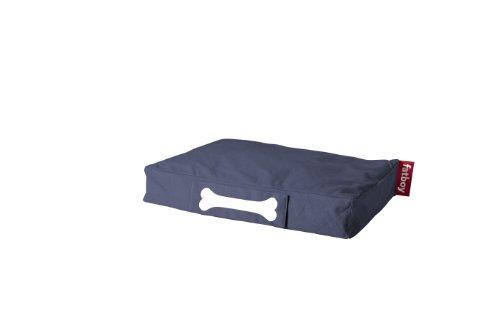 Fatboy® Doggielounge Stonewashed Small blau | Kleines Baumwolle-Hundekissen | Abwaschbares Hundebett für kleine Hunde | 60 x 80 x 15 cm
