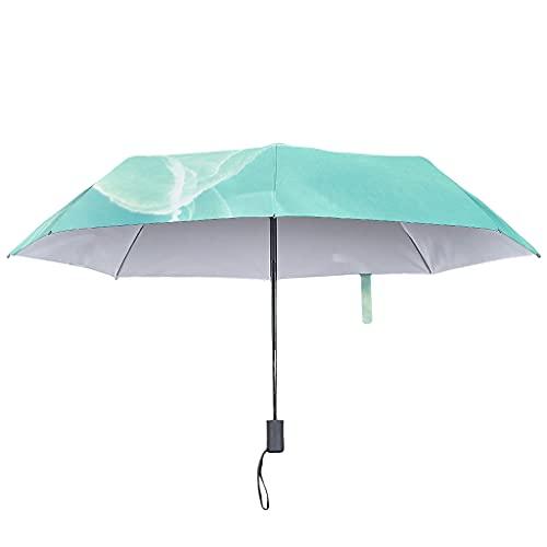 Paraguas de tinta con textura de mármol, cierre automático, resistente al agua, con funda impermeable, White (Blanco) - COMBON Shop-UBR