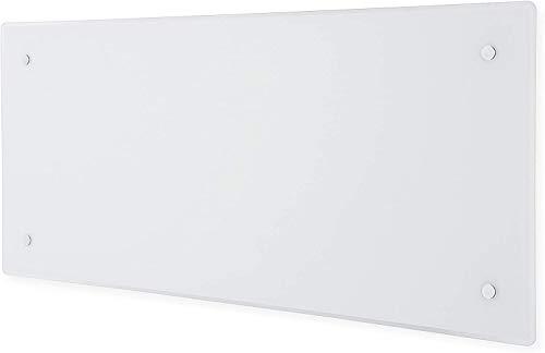 Adax CLea H - Convector inteligente de pared con WiFi, control de smartphone, bajo consumo, resistente a salpicaduras, 1000 W, altura 340 mm, color blanco KWT, protección contra heladas