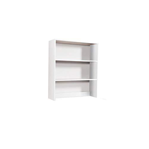 WEBMARKETPOINT Libreria da Appoggio per Scrivania 2 Ripiani Bianco Frassinato H.105x90x29cm