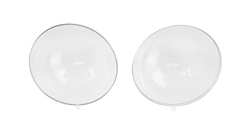 LACrafts Bulk Case of 24 Clear Acrylic 100mm Fillable Keepsake Ball Ornaments