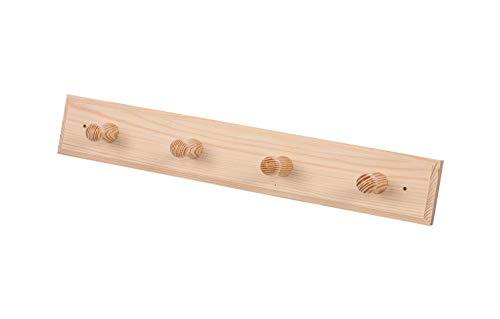 eliga Kleiderhaken Holz mi 4 Aufhängern