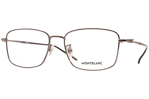 Montblanc MB 0140OK 006 - Gafas rectangulares de metal de rutenio (56 mm)