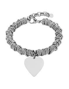Pulsera Anillas Corazón Marea Jewels D00203/144