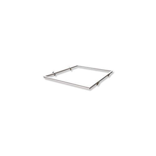 Vision-EL 773977 Cadre Placo Dalle Encastrable, Aluminium, Blanc, (L x I x H)-630 x 630 mm