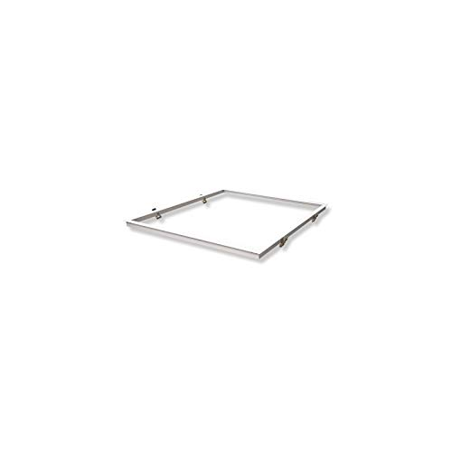 Vision-EL 773977 Placo Dalle Einbau-Rahmen, Aluminium, Weiß, (L x B x H) -630 x 630 mm