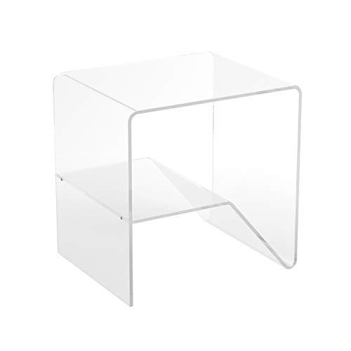 LuceSolida - 'FLAG' Tavolino Comodino in Plexiglass Trasparente