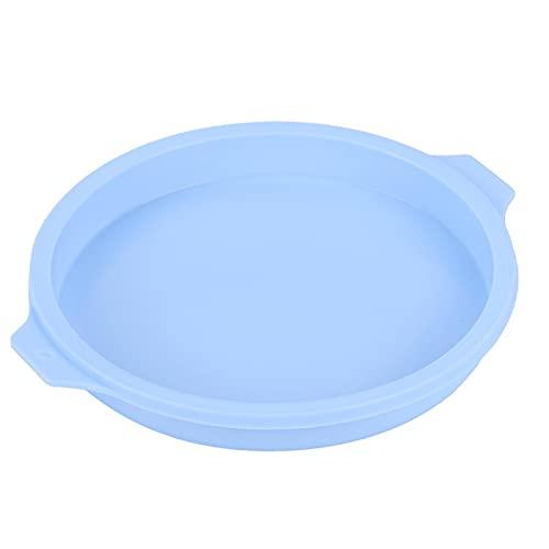 Silicona de grado alimenticio ampliamente utilizable antiadherente fácil desmoldear pizza Pan Cake Pan para pasteles arco iris para la tienda de postre (azul 4 unidades 83065-C)