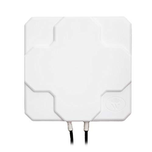 Dcolor 18DBI 4G LTE Enrutador InaláMbrico Direccional para Exteriores de Panel Plano N Longitud de Cable Hembra 0.2 (Blanco)
