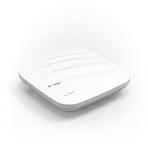 GL.iNet GL-AP1300(Cirrus) Gigabit Ceiling Wireless Access Point | Dual Band AC1300 | Connect with 100 Client Devices | MU-MIMO | Cloud Remote Management | OpenWrt/LEDE | PoE Powered
