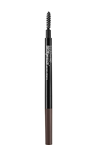 Maybelline Brow Precise Micro Eyebrow Pencil Makeup, Deep Brown, 0.002 oz.