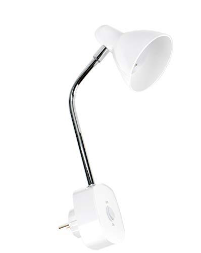 Grundig! Steckdosenlampe mit 6 LEDs, Lampe für die Steckdose, 90 Lumen, 270° Rotation, stufenlos drehbar, On-Off Schalter