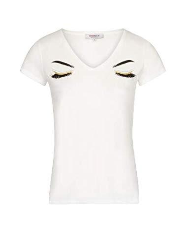 Morgan Tshirt DLODIE Camiseta, Offwhite, Large Alto para Mujer
