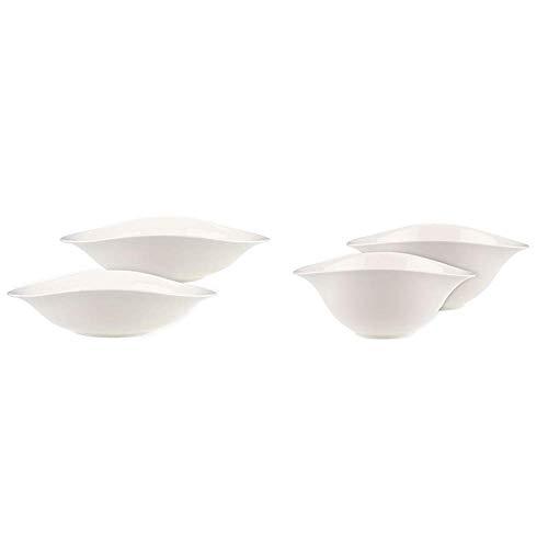 Villeroy & Boch Dune Set Scodella Pasta, Premium Porcellana, Metallic + Set Insalatiera