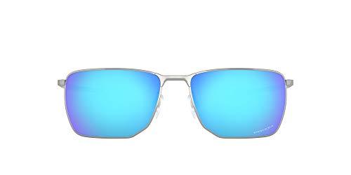 Oakley 0OO4142 Gafas, SATIN CHROME, 58 para Hombre