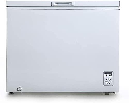 CHiQ FCF197D Gefrierschrank Groß 197 L | Gefriertruhe mit statischem Kühlungsystem | Tiefkühlschrank | 82,5 x 98 x 56 cm (HxBxT) | F Energieverbrauch 248 kWh/Jahr | Großer Tiefkühler | Leise 41db