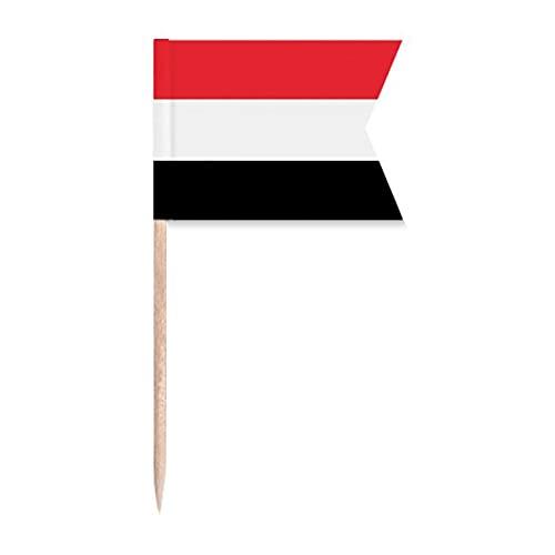 Jemen Nationalflagge Asien Land Zahnstocher Flaggen Kennzeichnung für Party Kuchen Lebensmittel Käseplatte