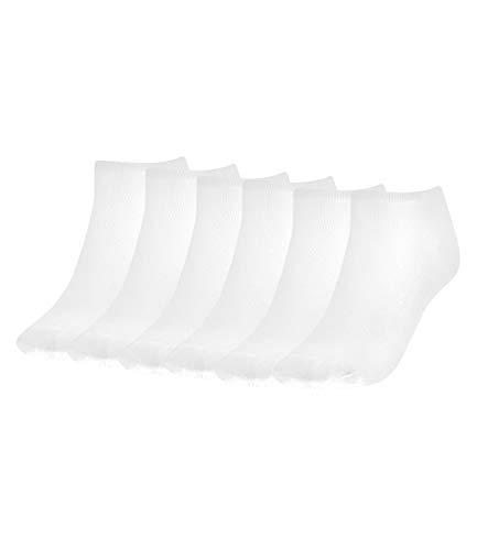 Tommy Hilfiger Damen Sneaker Socken Füßlinge Kurzsocken 343024001 6 Paar, Farbe:Weiß, Menge:6 Paar (3x 2er Pack), Größe:39-42, Artikel:-300 white