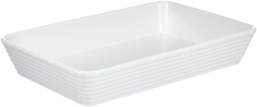 Küchenprofi 07 5011 82 35 Burgund Plat de cuisson Porcelaine Blanc 35 x 15 x 10 cm
