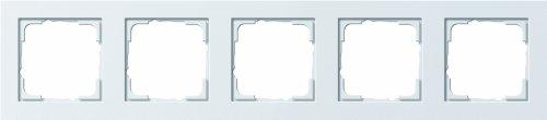Preisvergleich Produktbild Gira Rahmen 021522 5fach E2 reinweiss matt,  Weiß