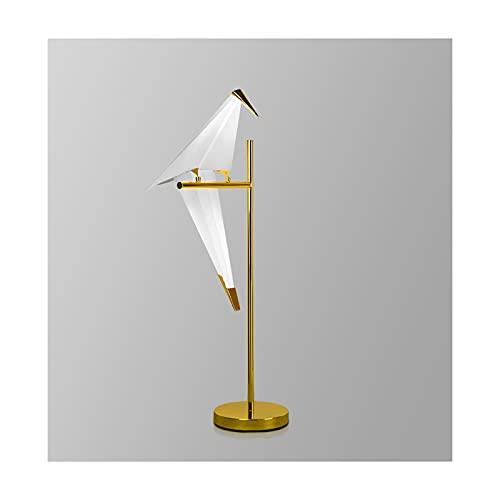 Hong Yi Fei-Shop lámpara de mesita Sala de Estar Estudio Decoración Lámpara de Mesa Personalidad Creativa Escritorio Lámpara Dormitorio Lámpara de Noche Lámpara de Arte de Hierro de Lujo Luz Nocturna