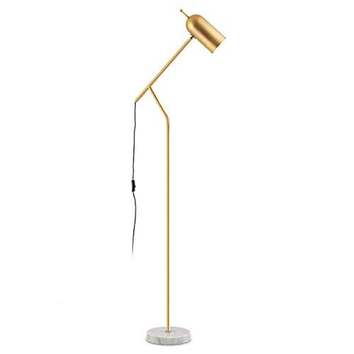 Lámpara de Pie Lámpara de lectura Lámpara de piso retro vertical poste largo flexo poste vertical de la sala de lectura del dormitorio de oficina, H 61' Luz de Piso de Lectura ( Color : Gold )