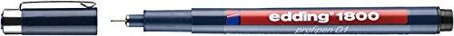 Edding 1800 Profipen - Rotulador de punta fina (0,5 mm), color negro