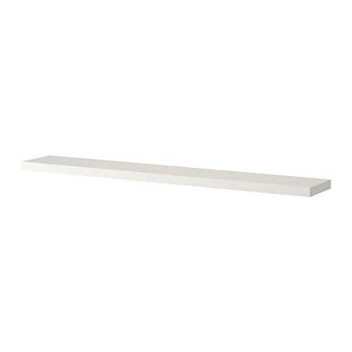 IKEA FALTA flotante largo estante de pared, color blanco
