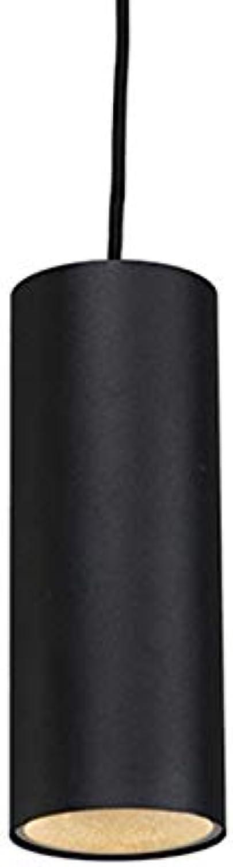 QAZQA Design Modern Pendelleuchte Pendellampe Hngelampe Lampe Leuchte tubo 1 schwarz Innenbeleuchtung Wohnzimmerlampe Schlafzimmer Küche Aluminium Zylinder LED geeignet GU10 Max. 1 x