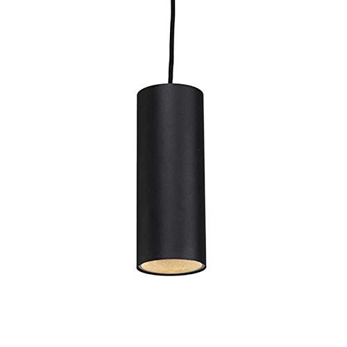 QAZQA Design/Modern Design Hängelampe schwarz - Tubo/Innenbeleuchtung/Wohnzimmerlampe/Schlafzimmer/Küche Aluminium Zylinder LED geeignet GU10 Max. 1 x 50 Watt
