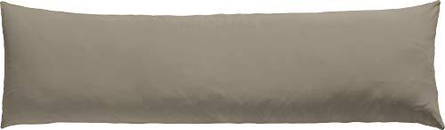 REDBEST Seitenschläferkissenbezug Single- Jersey San Francisco Taupe Größe 40x140 cm- weiche Qualität, bügelfrei, praktischer Reißverschluss, 100% Baumwolle (weitere Farben)